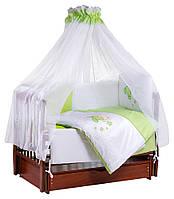 Детская постель Tuttolina Sweet Kitty (7 элементов) 30 салатовый-белый  (котик с e2ef5d7bdfb32
