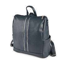 Синяя сумка-рюкзак трансформер М158-39 матовый женский городского типа, фото 1