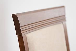 Стул деревянный с мягким сиденьем и спинкой Неаполь-Н Микс мебель, цвет орех ткань Solo22 Mebtex, фото 2