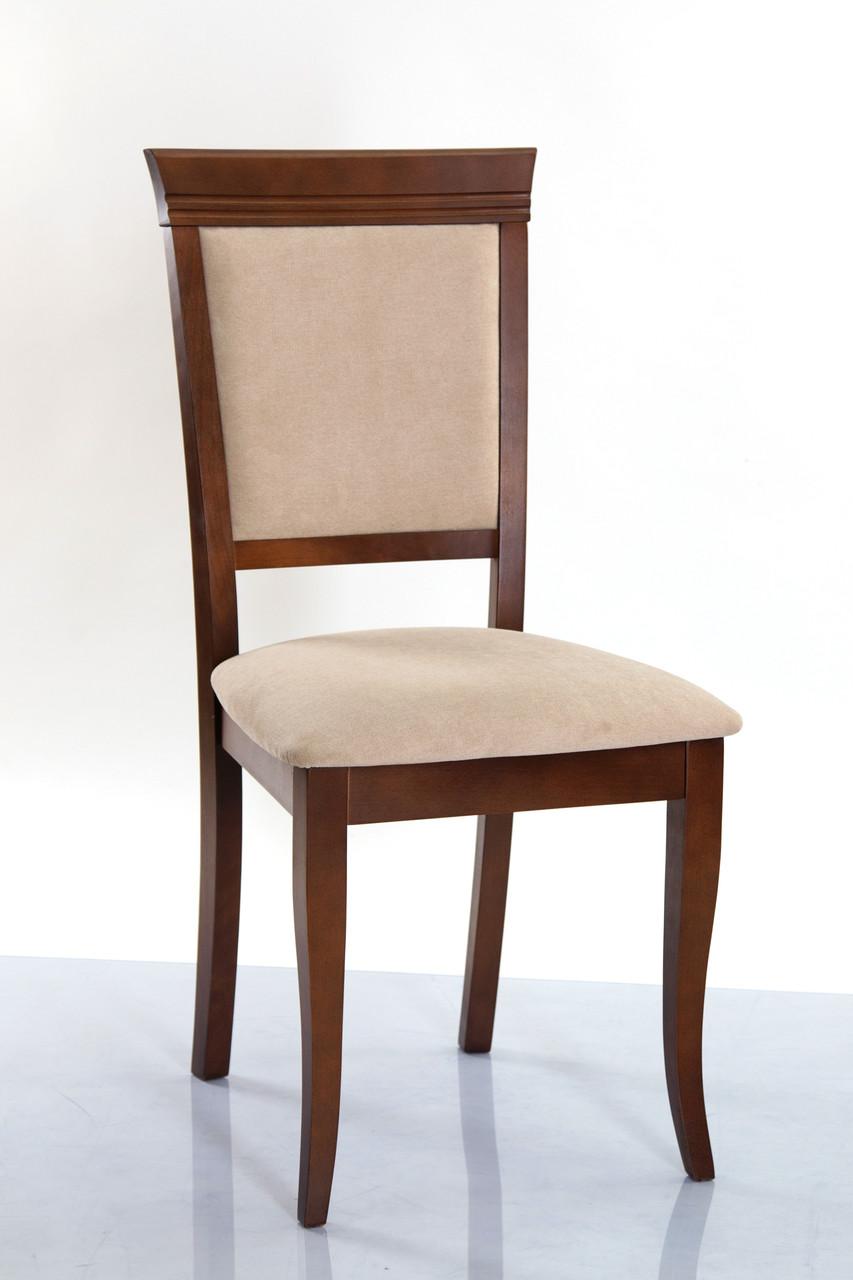 Стул деревянный с мягким сиденьем и спинкой Неаполь-Н Микс мебель, цвет орех ткань Solo22 Mebtex