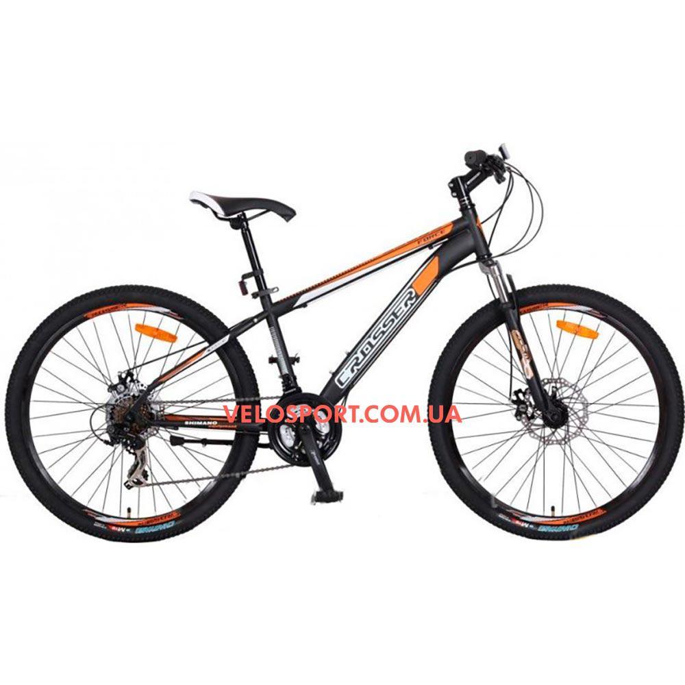 Горный велосипед Crosser Force 26 дюйма черный