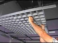 Потолок Грильято 120х120х40 серый оцинкованный Open-cell