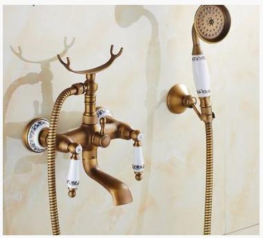 Смеситель для ванной комнаты в бронзе 2-046
