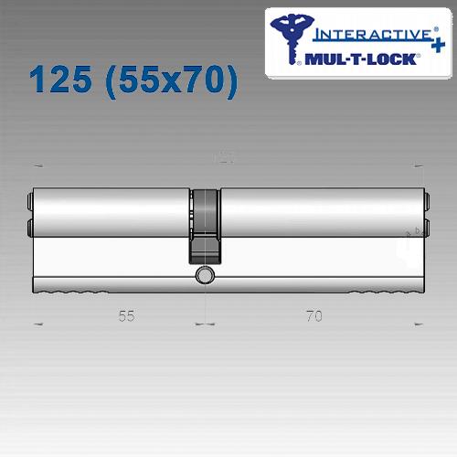 Цилиндр Mul-T-Lock Interactivе+ 125 мм (55х70)