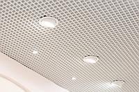 Потолок Грильято 150х150х50 белый оцинкованный Open-cell