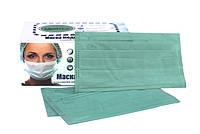 Маски медицинские одноразовые зеленые, 50 шт