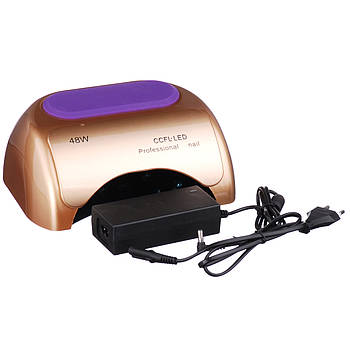 Лампа гибридная Nail Professional 48W CCFL+LED Золотая