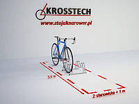 Велопарковка на 2 велосипеди Smile-2 Польща, фото 1