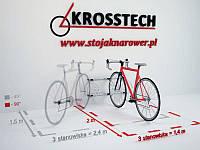 Велопарковка на 3 велосипеди Echo-3 Wall Польща, фото 1