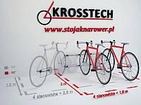 Велопарковка на 4 велосипеди Echo-4 Wall Польща