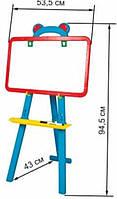 Мольберт арт. 51-001, 2 сторон. , магнит. , 3-х ног. , мел, маркер