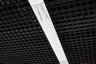 Потолок Грильято 150х150х40 черный оцинкованный Open-cell