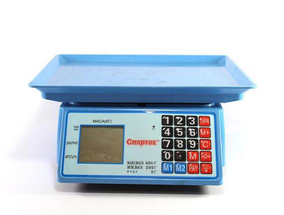 Весы электронные торговые ACS 50kg/5g MS 586/986 Domotec 6V , фото 2