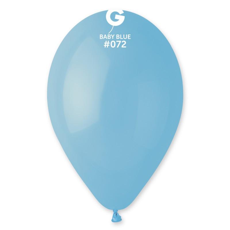 """Шары воздушные пастель голубой матовый 10"""" (26 см) 100 шт"""