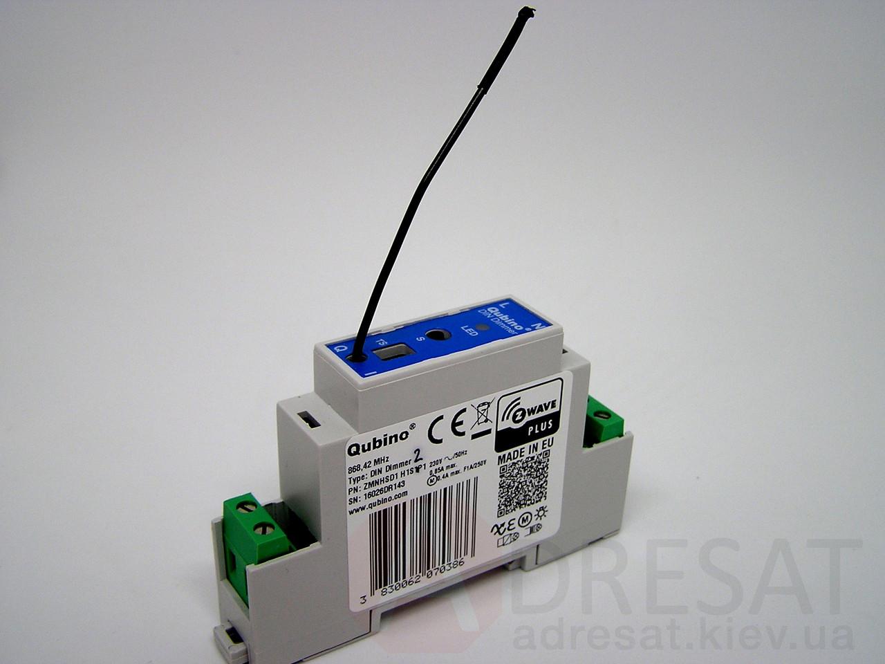 ZMNHSD1, QUBINO DIN Dimmer,  керований Z-Wave димер для встановлення на DIN- рейку