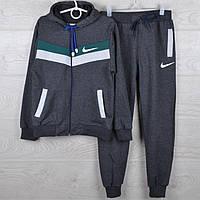 """Спортивный костюм подростковый """"Nike реплика"""" 7-12 лет. Темно-серый+зеленый+серый. Оптом, фото 1"""
