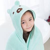 Детское полотенце, покрывало голубое