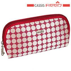 Reed - Косметичка 7634 Candy red красно белая,прямоугольная овальная плоская маленькая 17x2х9см, фото 2