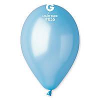Шарики Gemar GM90 металлик светло-голубой 10' (26 см) 100 шт, фото 1