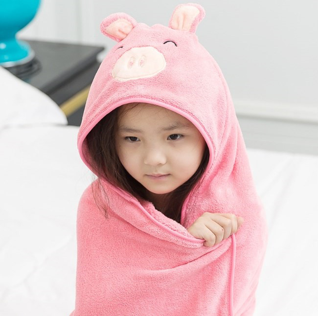 Пляжное полотенце для детей розовое