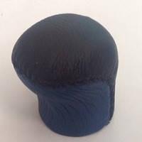 Ручка КПП Lanos (под кнопку) короткая кожа черная- синяя ВК/BL Avtoban , фото 1