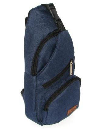 Сумка мужская через плечо барсетка рюкзак городской косуха Премиум синий джинс европейского качества Польша