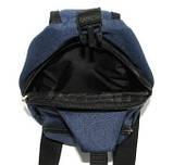 Сумка мужская через плечо барсетка рюкзак городской косуха Премиум синий джинс европейского качества Польша, фото 5