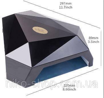 LED+UV лампа для маникюра WE - 088 на две руки 60 Вт Черная, фото 1