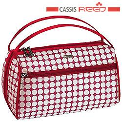 Reed - Косметичка 7640 Candy red красно белая,прямоугольная овал средняя 19,5x6х15см