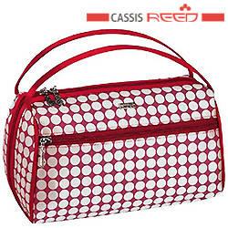 Reed - Косметичка 7640 Candy red красно белая,прямоугольная овал средняя 19,5x6х15см, фото 2
