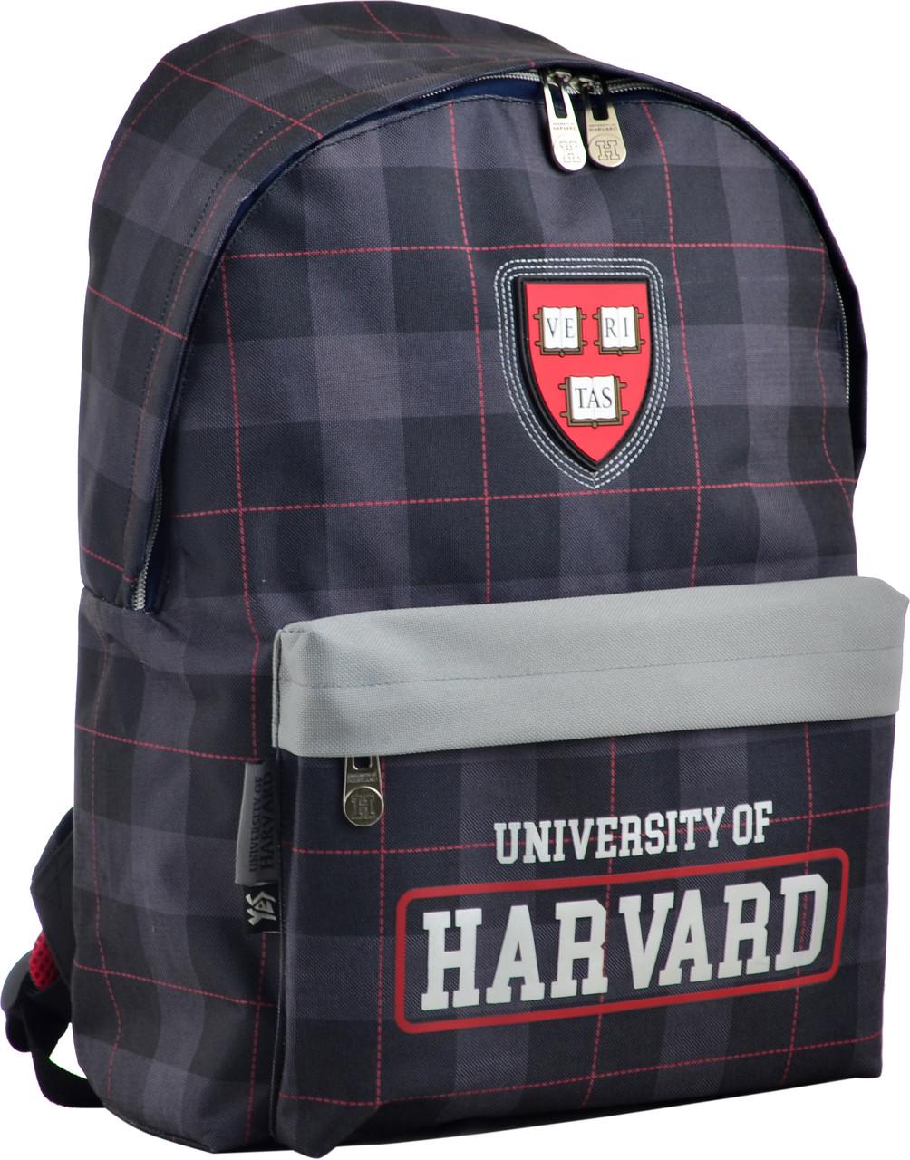 Городской рюкзак YES SP-15 Harvard black, 555038, 15 л, чёрный