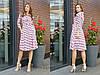 Принтованное платье-рубашка длиной миди и пышной юбкой 31031688
