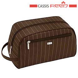 Reed - Косметичка 7819 Elegance men коричневая,мужская 25х13,5х15 см, фото 2