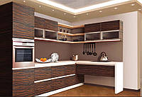 Кухня с облицовкой из натуральный шпон