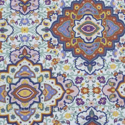 Декоративная ткань для штор и отделки с принтом