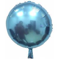 """Фольгированный шар без рисунка Круг синий 18"""""""