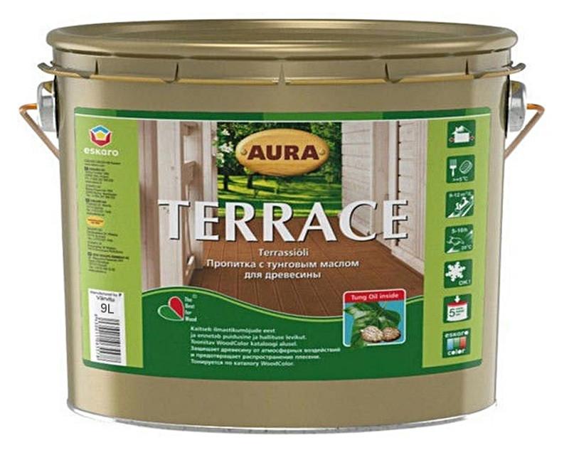 Масло атмосферостойкое AURA TERRACE  для древесины 9л
