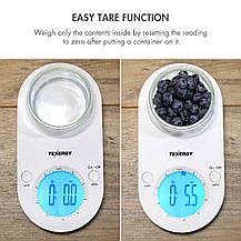 Кухонные весы Tenergy с чашей и большим LCD дисплеем, фото 3