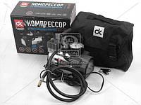 Компрессор, 12V, 10Атм, 35л/мин, фонарь LED,спускной клапан,прикуриватель  DK31-105