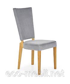 Дерев'яне крісло на кухню Rois popielaty Halmar