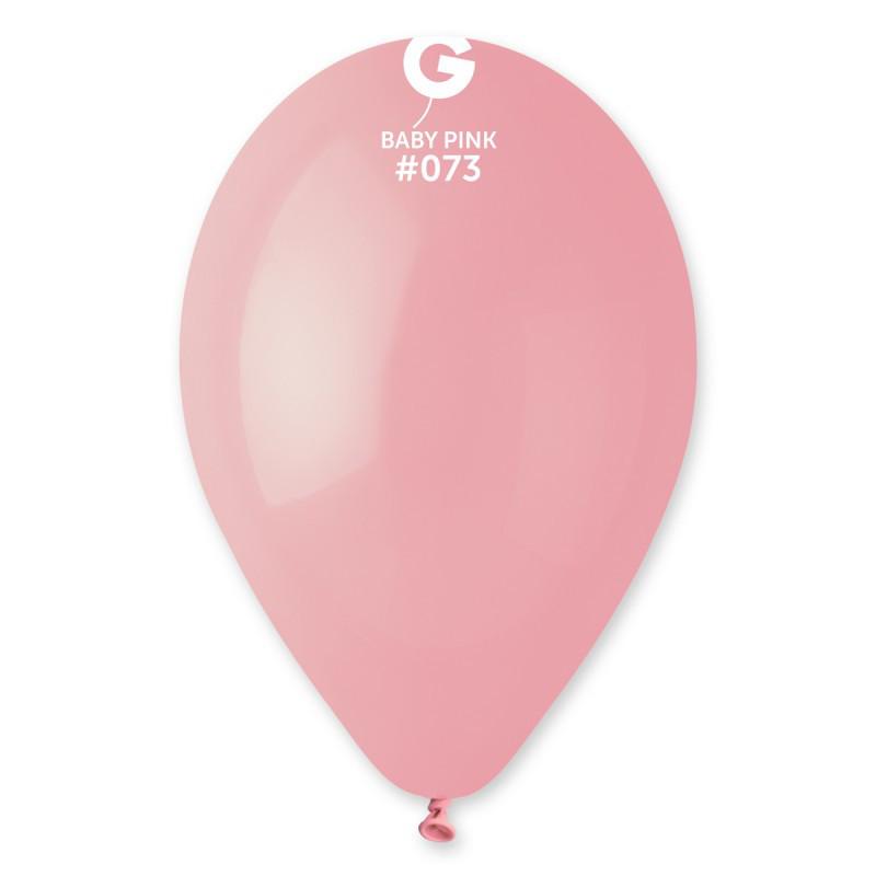 """Воздушные шары пастель розовый матовый 12"""" (30см) 100 шт"""