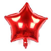 """Фольгированный шар без рисунка Звезда Красная 18"""""""