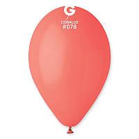 """Латексные шары 12"""" пастель Gemar G110-78 коралловый (30 см) 100 шт"""