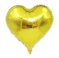 """Фольгированный шар без рисунка Сердце Золотое 18"""""""