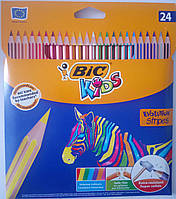 Цветные карандаши Bic Stripes (24 цветов)