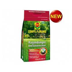 Твердое удобрение для газонов против сорняков COMPO 12 КГ