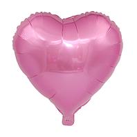 """Фольгированный шар без рисунка Сердце Розовое 18"""""""