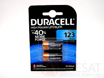 Батарейки Duracell ultra high power lithium battery 123 3v
