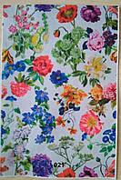 Фетр с цветочным рисунком принтом 021