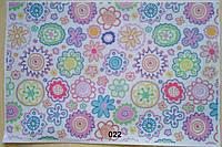 Фетр с цветочным рисунком принтом 022